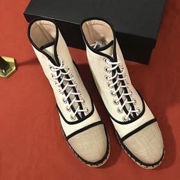 ¡NUEVO! u662 40 auténticas alpargatas de lona con cordones de cuero perlas en botas