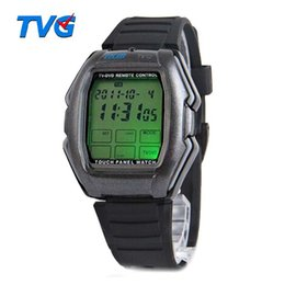 Wholesale Relogios Masculino TVG Led Watch Touch Screen Panel Led Digital Watch TV DVD Remote Control Watch With Instructions