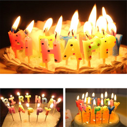 Wholesale Novelty Funny Happy Birthday with Round Dot Cake Candle Non toxic Candles Birthday Festival Annivesary Party Gift Bar Decor