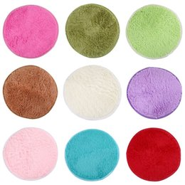 Wholesale 1PCS cm Fluffy Round Foam Rug Non Slip Shower Bedroom Mat Door Floor Carpet Round Rug Colors Available