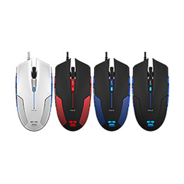 Wholesale E lue computer game EMS109 Cobra Gorgeous Edition LED Light DPI Gaming Mouse Wired Mice Buttons Max Acceleration GB