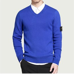 Wholesale-New Arrival Men POLO V-neck sweaters fashion pullovers sweater Knitwear style sweater! 7 color free shipping