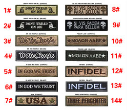 Wholesale 1 inch Molon Labe military Patch D Embroidered Pacthes with magic tape Outdoor Army Armband patch spersonality VP