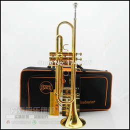 Wholesale New Bach Brass Trumpet LT180S Bb Gold Lacquer Trompeta Profissional Instrumentos Case Mouthpiece