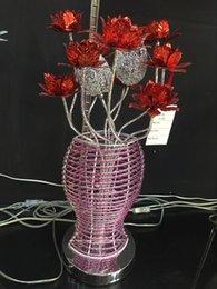 Wholesale Manufacturers selling pieces of aluminum wire round flower vase lamp room aluminium lamp