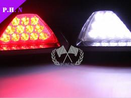 2017 nave de luz estroboscópica de advertencia Envío libre del estilo F1 12 de la lámpara LED del coche coche de la luz de freno de marcha atrás del vehículo para Lámpara de advertencia del estroboscópico de la luz del flash 12V CC Rojo