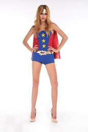 Wholesale Hot Sale Sexy Comic Book Costume Sexy Halloween Costumes Sexy Supergirl Costume Sexy Costumes For Adults F1589
