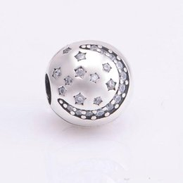 Wholesale Christmas star clips charms S925 sterling silver jewelry fits for pandora bracelets antique KT086 NH9
