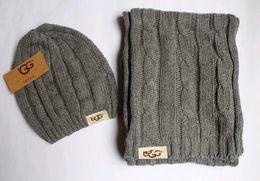Wholesale 2016 Top quality Winter Brand crochet scarfs warm Scarf hat set men women scarf hat new scarf and caps hat winter cap Winter Scarf