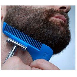Descuento recortar las herramientas de corte moldeo corte de pelo plantilla de ajuste herramientas de modelado barba barba barba Bro Shaping Tool Sexo Hombre Caballero Barba Plantilla recortar el vello