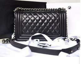 Wholesale High quality vintage le boy bag outer lock logo leboy plaid chain bag women handbag bags classic flap bag colors