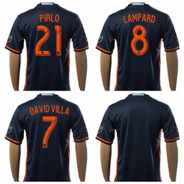 Wholesale 2016 Soccer New York City Jerseys Frank Lampard Andrea Pirlo Football Shirt Uniform Kits Tshirt Custom David Villa MIX NYCFC