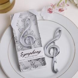 Wholesale DHL fedex Unique Wedding Favors quot Symphony quot Chrome Music Note Bottle Opener wedding gift