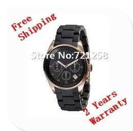 free hk shipping _Absolute luxury NEW ORANGE SILICON CHRONOGRAPH MENS WATCH AR5987 5987 Gents Wristwatch+ original box