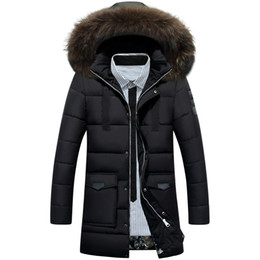 Fall-2016 New Men's 90% White Duck Down Jacket Mens Brand Winter Jacket Coat Men Fur Collar Hooded Outdoor Down Jacket