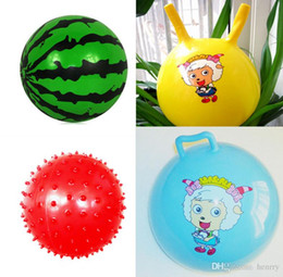 Wholesale Kindergarten special children's inflatable ball. Baby watermelon balls, pat a small ball. Croissants ball 66g