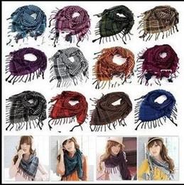 Wholesale New Fashion Unisex Women Men Checkered Arab Shemagh Grid Neck Keffiyeh Palestine Scarf Wrap