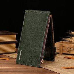 Wholesale Korean Set Phone - Network popular new men's double zipper phone card package long han edition men's wallet card sets