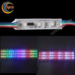 Wholesale 5050 LED Module RGB LED module With IC LPD6803S WS2801 DMX512RGBW Outdoor IP67 DC12V Waterproof For Advertising Channel Letter