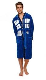 Wholesale-Doctor who Logo Tardis Hooded Bathrobe New blue Cosplay costume bathrobe mantle Hoodie