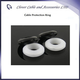 Free Shipping 1000PCS Lot 5mm inner diameter Black and White PVC Rubber Ring Dual Side Cable Wiring Grommet