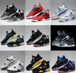 Wholesale Retro Basketball Shoes Men Cheap AJ4 IV Boots Authentic Online For Sale Sneakers Mens Sport Shoes Size