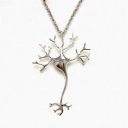 Science Jewelry Hippie Chic Neuron Brain Nerve Cell Necklace Colar Boho Neuron Necklaces Ladies Fashion Neclaces For Women