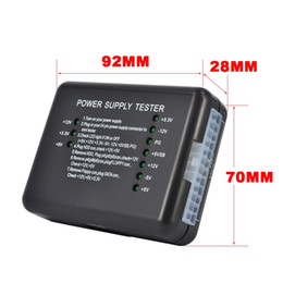 Wholesale LED Indication Pin ATX Sata HDD Power Supply Tester Meter PC Computer PSU Diagnostic Tool for Anode Cathode V V V