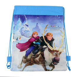 Wholesale 2016 New Baby Frozen Bags Anna Elsa peppa pig sofia Drawstring Backpack School Bags kids frozen shopping bags