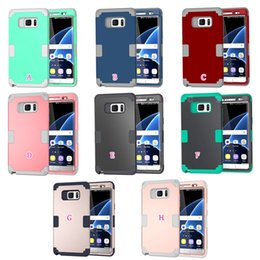 Wholesale Shockproof Hard in1 Front back Case For Iphone Plus Galaxy Note7 Note S7 Hybrid Armor PC Soft TPU Dual Beetle Layer Security Gel Cover