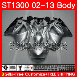 Kit For HONDA STX1300 ST1300 Pan European 00 01 02 03 04 05 06 93HM1 ST-1300 ST 1300 2000 2001 2002 2003 2004 2005 2006 Fairing Gloss silver