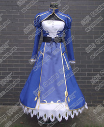 Wholesale Fate Stay Night Fate Zero Holy Grail War Saber Cosplay Costume Made Fate Zero