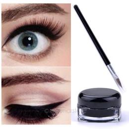 Gel Cream Waterproof Eye Liner Black Eyeliner Makeup Cosmetic with Brush Makeup Set