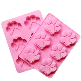 6 Cavity Paw Pan Baking Silicone Cake Mold Cookie Cutter Mold Pudding Mold Jelly Mold Random Color Free Shipping