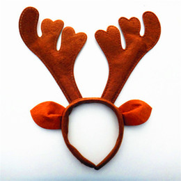 Wholesale New arrival Christmas supplier decorations headband cartoon antlers shapes handband David s deer Wedding Accessories