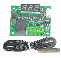 Wholesale 10pcs W1209 DC V heat cool temp thermostat temperature control switch controller thermometer thermo controller