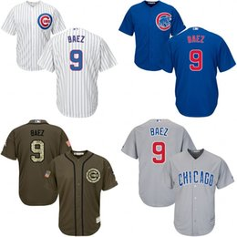 Wholesale Youth chicago cubs Javier Baez kids Authentic baseball jersey Embroidery logos stitched for sale size S XL
