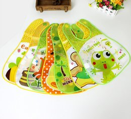 Wholesale EVA Bibs For Babies Cartoon Feeding Bibs 18 Styles Infant Waterproof Bibs Burp Clothes Baby Kids Free shipping