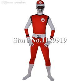 Descuento trajes de cuerpo de spandex al por mayor Wholesale-Super Sentai Traje Lycra Spandex Zentai segundo traje de la piel de cuerpo entero para hombres y mujeres