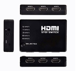 Wholesale Newest Black Ports HDMI Switch P HD Video Switcher Selector in out Splitter IR Remote for HDTV PS3 DVD