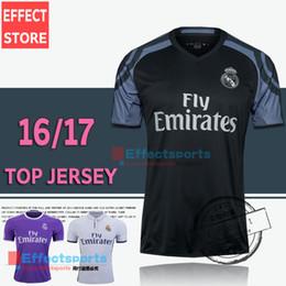 Wholesale 2017 New Arrived Real madrid rd soccer Jerseys Cristiano RONALDO home white away Purple Third Black JAMES BALE ISCO football shirt