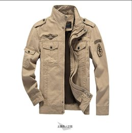 Wholesale Fall The new brand military man army jacket plus size XL cost sports coat embroidered jacket for men aviation industry Militare