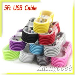 Wholesale Hot Sale USB Cable Aluminum Alloy Head Weave Cable Data Micro USB For Samsung Iphone