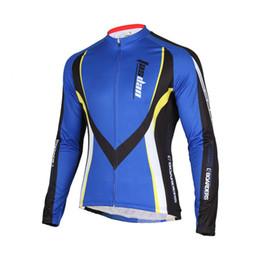 Tasdan Mens Sports Clothes Breathable Quick Dry Fabric Biking Clothing UV Protect Cycling Jersey Biking Apparel