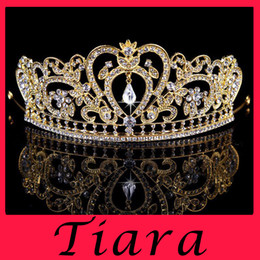 Wholesale New Wedding dress crown wedding crystal tiaras crowns Hair claw clips Hairband bridal noble Bridesmaid Rhinestone Pearls BAROQUE PEARL