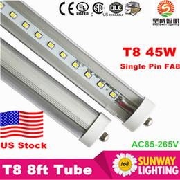 CREE LED tube lights 8ft T8 45W FA8 Single pin LED fluorescent lamps cree SMD2835 AC85-265V UL SAA