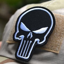 GPF-012 2.2*3 inch 3D Embroidered patch with magic tape Punisher Skull USA WAVING FLAG MILSPEC ARMY MORALE ISAF DESERT outdoor badge