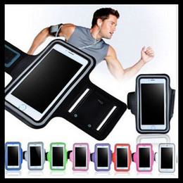 Sport Armband Arm Band Belt Cover Waterproof Running GYM Bag Case For Samsung Galaxy S7 S6 Mobile Phone with Key Holder