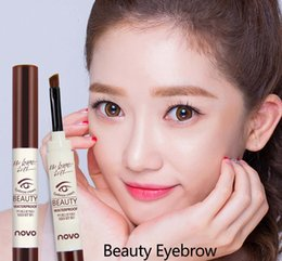 Wholesale Professional Brand novo Colors Eyebrow Cream Mascara Gel Make Up Waterproof Eye Brow Pro Beauty Cosmetics Pen Enhancer With Brush SH P01