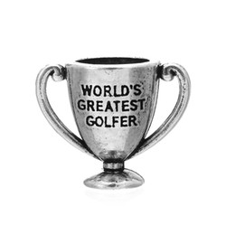 Wholesale Antique Silver Plated D World s Greatest Bowler Golfer Skater Talker Mother Artist Lover Sweetheart Trophy Charm Pendant